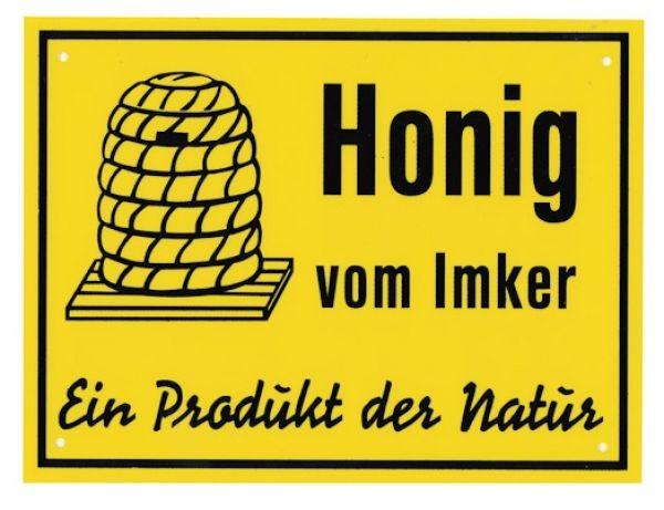 honig werbeschild honig vom imker ein produkt der natur. Black Bedroom Furniture Sets. Home Design Ideas